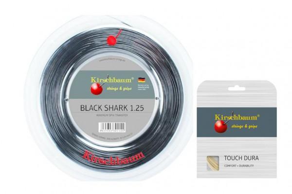 Kirschbaum Black Shark 1,30 inkl. 1 Set Kirschbaum Touch Dura 1.25
