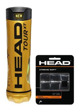 Head Tour XT 4er inkl. 1 Packung Head Xtreme Soft 3er, schwarz