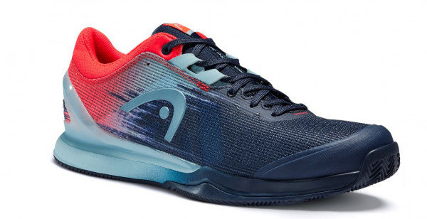 Head Sprint Pro 3.0 Clay Men dark blue/neon red