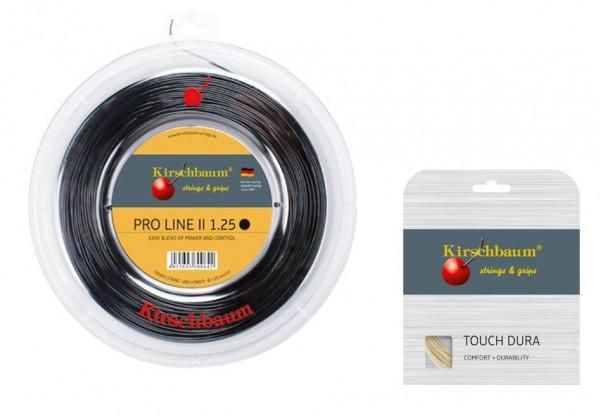 Kirschbaum PRO LINE No. II 1.25 schwarz inkl. 1 Set Kirschbaum Touch Dura 1.25