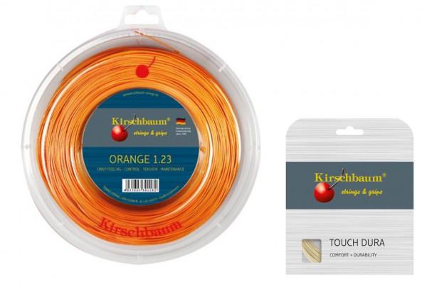 Kirschbaum Super Smash Orange 1.23 inkl. 1 Set 12m Kirschbaum Touch Dura 1.25