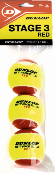 Dunlop Mini Tennis Stage 3 red 3er
