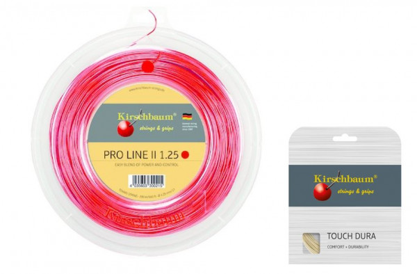 Kirschbaum PRO LINE No. II 1.20 rot inkl. 1 Set Kirschbaum Touch Dura 1.25