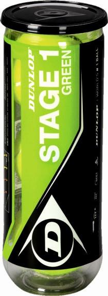 Dunlop Mini Tennis Stage 1 green 3er