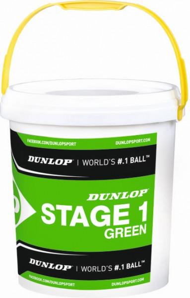 Dunlop Mini Tennis Stage 1 green 60er im Eimer
