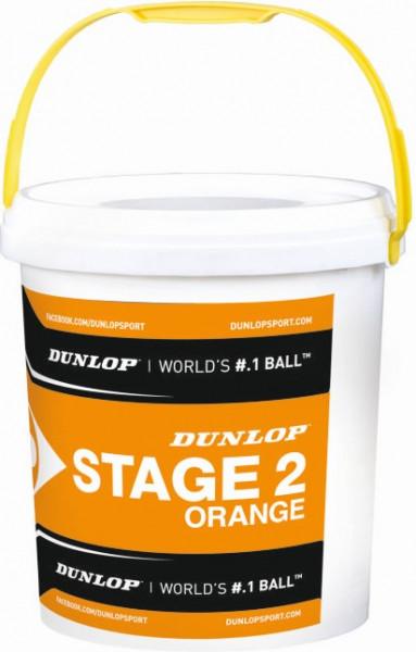 Dunlop Mini Tennis Stage 2 orange 60er im Eimer