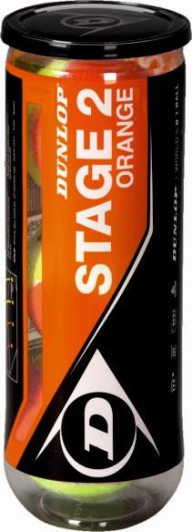 Dunlop Mini Tennis Stage 2 orange 3er